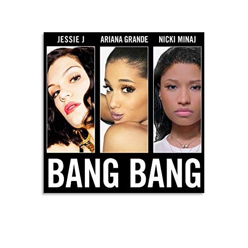 XYDD Albumcover, Bang Bang Bang Single von Jessie J, Ariana Grande & Nicki Minaj, Poster, dekoratives Gemälde, Leinwand, Wandkunst, Wohnzimmer, Poster, Schlafzimmer, Malerei, 30 x 30 cm