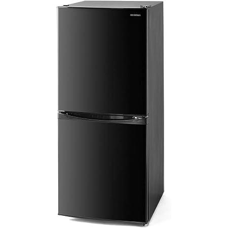 アイリスオーヤマ 冷蔵庫 142L 冷凍室52L 幅50cm ブラック IRSD-14A-B