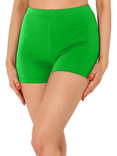 Merry Style Leggins Cortos Malla Deportiva Short Mujer MS10-391 (Verde, S)
