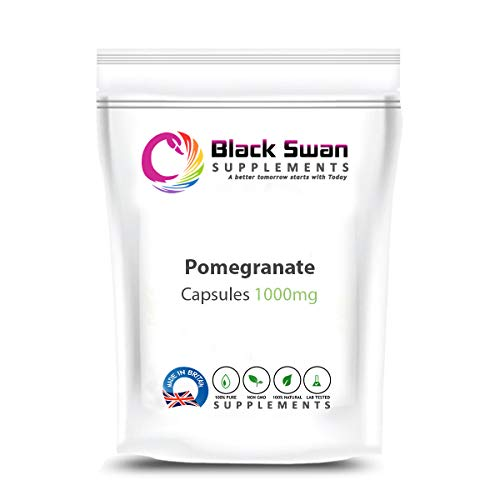 Black Swan Pomegranate Extract 1000mg Capsules Supplements – with high Anti-oxidant and Anti-inflammatory Properties – Healthy Digestive System, Joint Health and Healthy Skin (60 Caps)