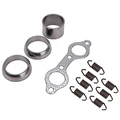 5250091,7041687,7041789 Exhaust Muffler Manifold Gasket Spring Rebuild Kit Compatible with Polaris RZR 800 2008 2009 2010