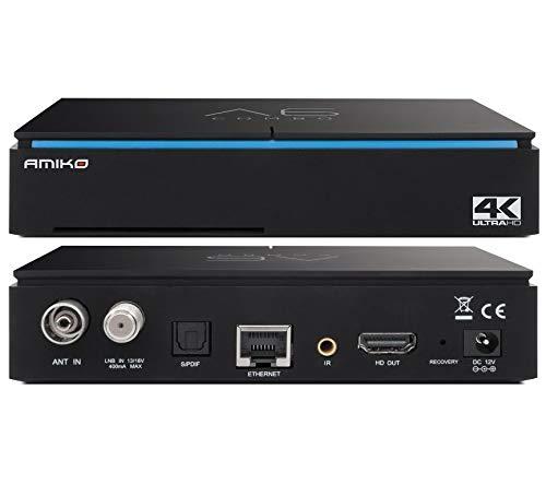 Decodificador Android Combo DVB-S2 y DVB-T2 Ultra HD 4K Smart TV Box Wi-Fi integrado
