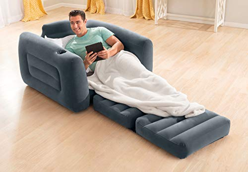 Intex Pull-Out Chair Inflatable Bed, 42' X 87' X 26', Twin
