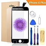 FLYLINKTECH Für iPhone 6 Plus Display Schwarz, LCD 3D Touchscreen Digitizer Assembly mit Werkzeuge und Displayschutzfolie Für iPhone 6 Plus Schwarz 5.5'
