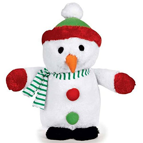 Zanies Holiday Musical Plush Dog Toys Plays Seasonal Christmas Song - Choose Character(Snowman)