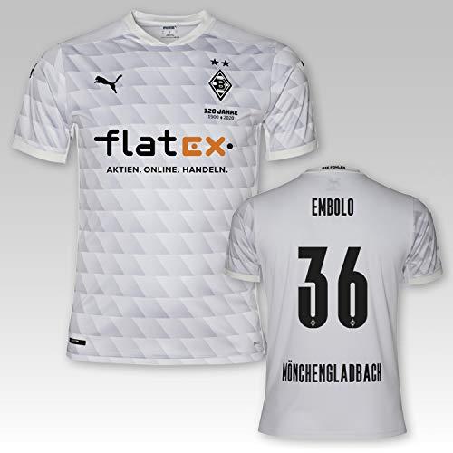 PUMA BMG Borussia Mönchengladbach Heimtrikot Kinder 2020/21, Größe:140, Spielername:Embolo