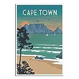 Poster, Motiv: Kapstadt, Vintage, Reiseposter, Bild,