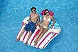 Swimline Inflatable Sprinkle Cupcake Ride On Swimming Pool or Lake Float Raft