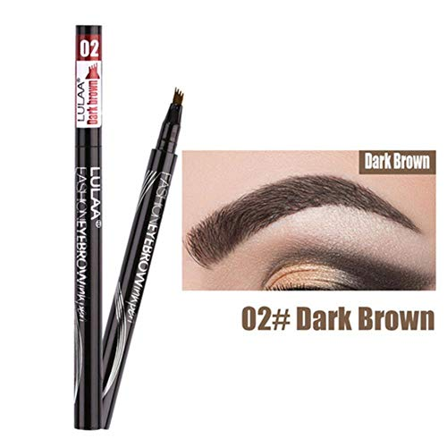 Waterproof Natural Eyebrow Pencil Eye Brow Pen Enhancer Tint Makeup 4 Head Fine Sketch Liquid Pencil,02