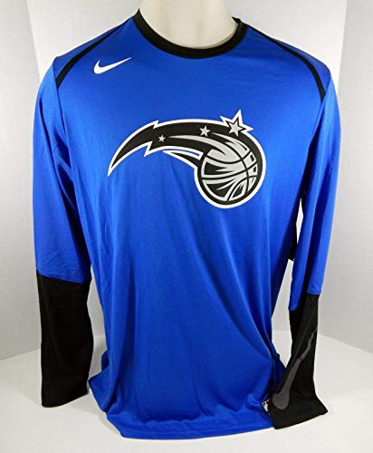 2018-19 Orlando Magic Team Game Issued Blue Shooting Long Sleeve Shirt 2XLT 881S - NBA Game Used