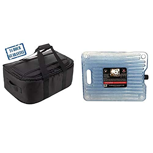 AO Coolers Stow-N-Go Cooler, Black, with 5 lb. Reusable Ice Pack