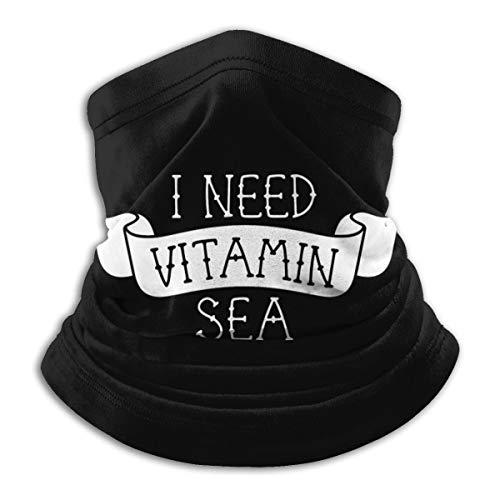I Need Vitamin Sea Microfiber Neck Warmer Headwear Scarf Cold Weather Winter Outdoor Sports Bandana Balaclava Unisex