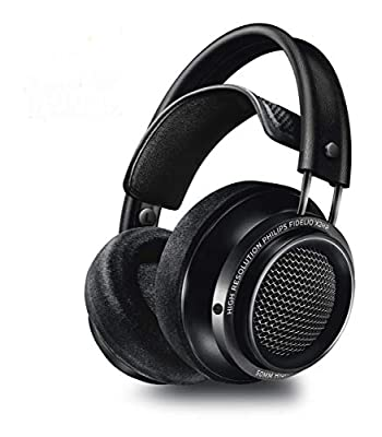 Philips Fidelio X2HR/00 Over-Ear Headphones, High-Resolution Headphones (Noise Cancelling, 50-mm Neodymium Driver, High Res Audio, Deluxe Memory Foam Ear Pads, Cable Clip) Black from TP Vision