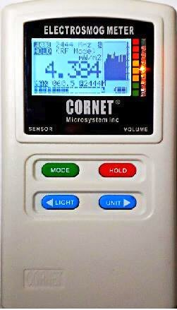 """EMRSS Cornet ED88T Plus Tri-Mode Messgerät:Hoch- / Niederfrequenz-, Elektrosmog-, Feldstärken-Messgerät, mit integriertem Magnetometer (""""Gaußmesser""""), Spannungsfeldmesser und Frequenzanzeige"""