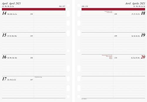 rido/idé 7065910001 Wochenkalendarium/Zeitplansysteme 2021, 2 Seiten = 1 Woche, Blattgröße 14,8 x 20,8 cm, A5