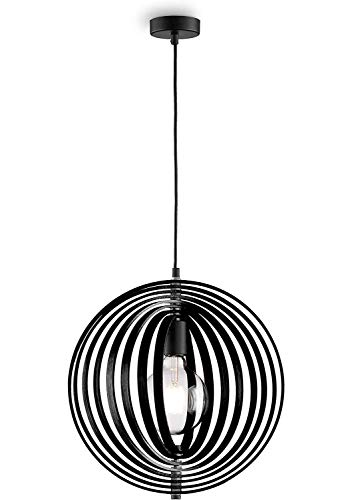 loxomo - lámpara de suspensión de madera en estilo Mobilé, Ø 40...