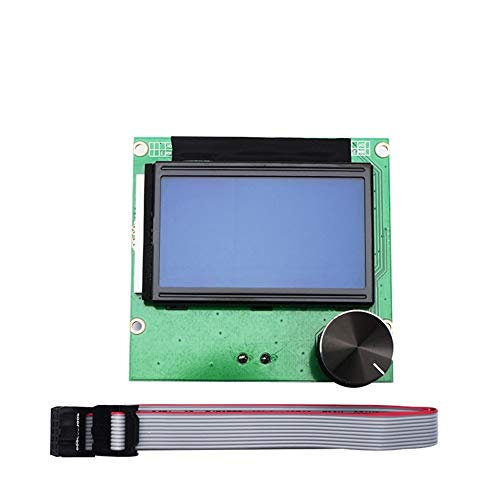 Apricot blossom 3 Cr10 Cr10s Controller RAMPS 1.4 LCD 12864 Display Blue Screen+Cable Fit For CREALITY 3D Ender-3 CR-10 CR-10S Printer Parts (Size : For CR 10 printers)