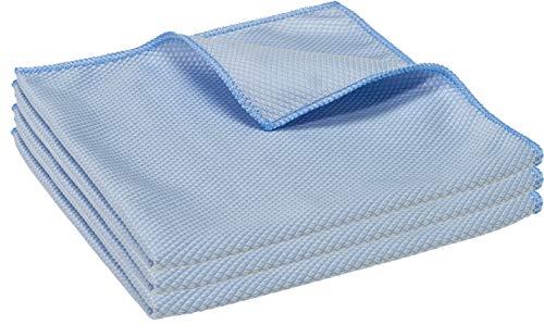 3X Koi-Mikrofaser-Tuch für Glas, Scheiben, Edelstahl - 40x40cm - Reinigungstuch, Poliertuch, Trockentuch in Diamant-Struktur für Beste Wasser- und Staubaufnahme - auch als Displaytuch