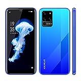 Teléfono Móvil Libres 4G, Android 9.0 Smartphone Libre, 6.3' HD+Water-Drop Screen, 3GB + 32GB, Cámara 8MP, Batería 4600mAh, Smartphone Barato Dual SIM, Face ID Moviles Baratos y Buenos (Azul)