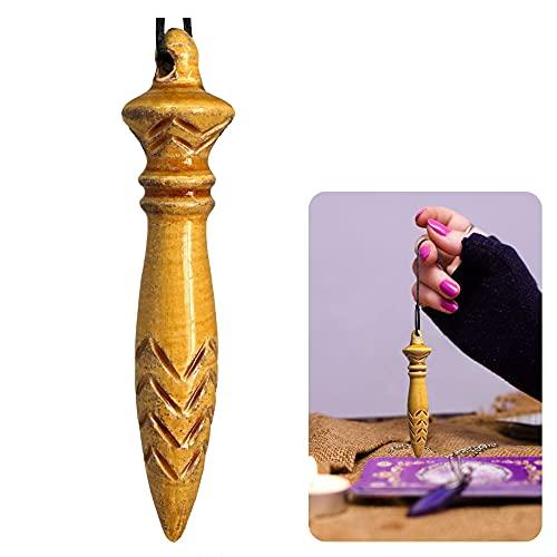 Pendule divinatoire de Haute précision   Pendule de Thot égyptien pour radiesthésie, Reiki, travaux de Divination. Esotérisme et spiritualité   en céramique Fait Main, Fait en France - Golden Brown