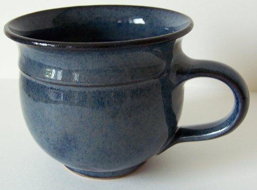 Töpferei Annett Fischer Tasse handgetöpfert blau Durchmesser 9 cm Höhe 8 cm Volumen 210 ml (Blau)
