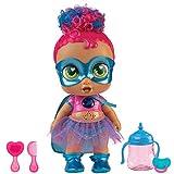 Super Cute - Super Cute Muñeca Superheroína Kala con biberón mágico, ropa reversible y accesorios Muñeca interactiva con luz y sonidos Muñecas niñas niños 3 años Muñecas bebé recién nacido (85390)