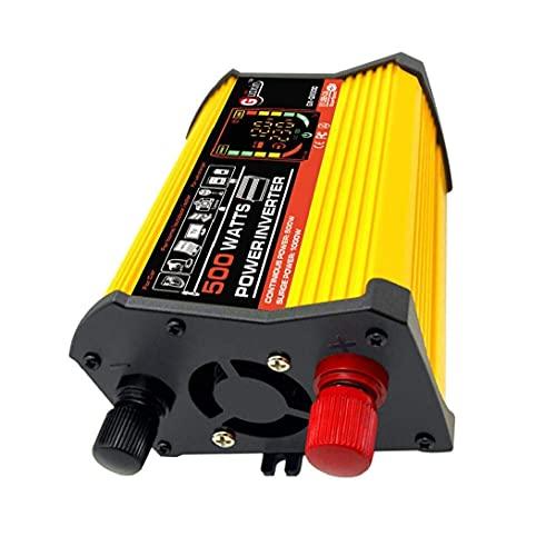 DierCosy Tools DC 12V a 220V AC Power Inverter Convertidor de corriente Inversor de corriente de onda sinusoidal pura Adaptador de cargador de coche de 500W