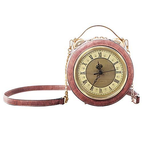 XINGYUE Reloj de trabajo de mano, real bolsa de reloj de trabajo, bolsa de reloj genuino de trabajo steampunk estilo monedero cadena de hombro femenino bolsa de Crossbody bolsos