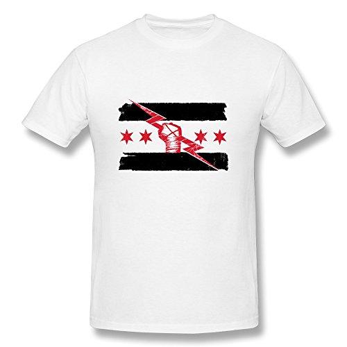 JIAYOUCT Men's Wrestling cm Punk Best in The World Uprising Logo T-Shirt White