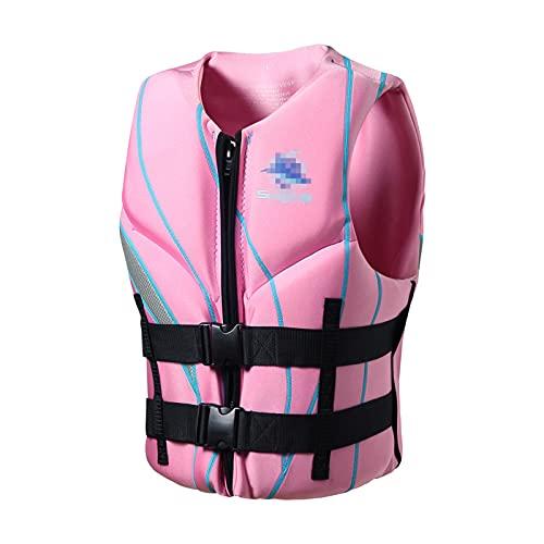 Chalecos salvavidas para el aire libre, chalecos de flotación para niños y adultos, cinturones de secado regulables, aptos para pescar y surf, deportes náuticos, rosa, XXL