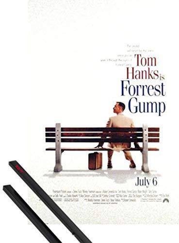 1art1 Forrest Gump Poster (102x69 cm) Tom Hanks, Gary Sinise Et Kit De Fixation Noir