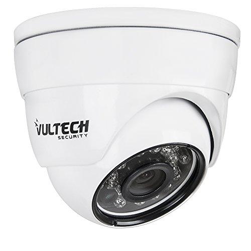VulTech Security CM-DM960AHD-B Telecamera, Dome, AHD, 1/4', 1.3 mpx 960 p, 3.6 mm, LED IR, 24 Pezzi, 25 m, Bianco