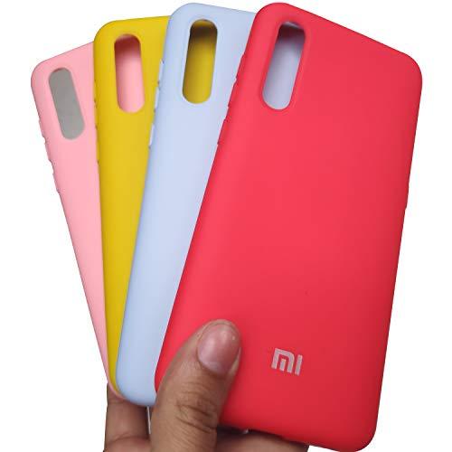 Capinha Case Silicone Aveludado super resistente Celular Xiaomi Mi 9 (rosa claro)