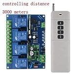 YIJIABINGRU 1set DC 12V-48V 4CH Wireless Controllo Interruttore modulo relè elettronico 30A for RC Bait Rimorchiatore Fai da Te Giocattoli Parti rc Parti della Barca (Color : Controling 3000M)