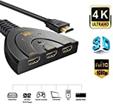 Famous Quality® High Speed 3 Port HDMI Switch Splitter with Pigtail Cable Supports
