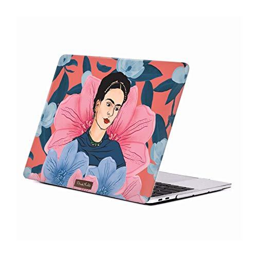 Head Hülle Designs Offizielle Frida Kahlo Blumig Portrait Kunst Harte Durchsichtige Handyhülle Hülle Huelle kompatibel mit MacBook Pro 13
