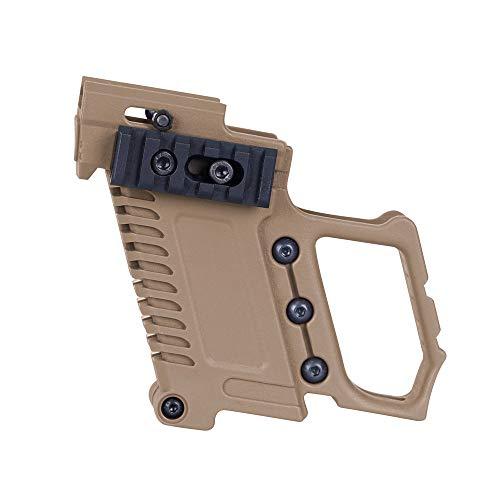 Huenco Pistola táctica Kit de carabina Revista Kit de Combate Equipo de Carga con Montaje de Glock para CS G17 18 19 Accesorios de Pistola