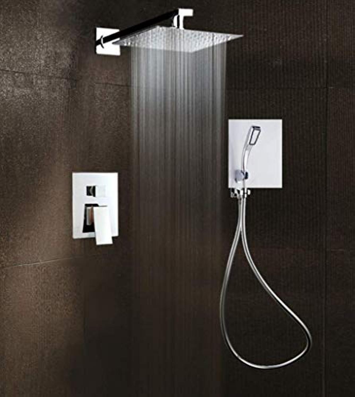 FOTEE DuschsUle - mit poliertem Chrom-Finish, quadratische Duschkopf, für Luxus-Badezimmer-Dusche-Set, Anti-Verbrühung Multifunktions, bringen die ultimative Dusche Erfahrung