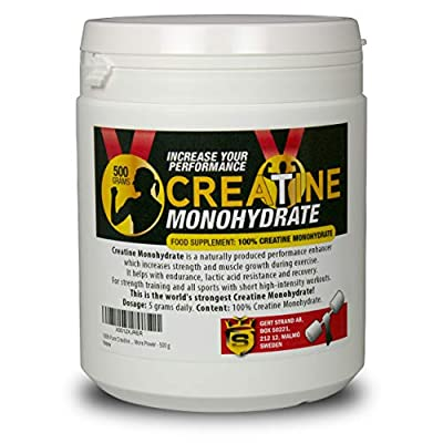 100% Pure Creatine Monohydrate Powder for More Power - 500 g