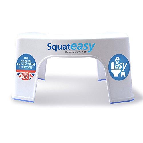 Squat Easy Taburete baño para Adultos | Taburete fisiológico para Inodoro | Postura Natural en Cuclillas | Durable - Antideslizante - fácil Limpieza | Alivia el estreñimiento y la hinchazón por SII