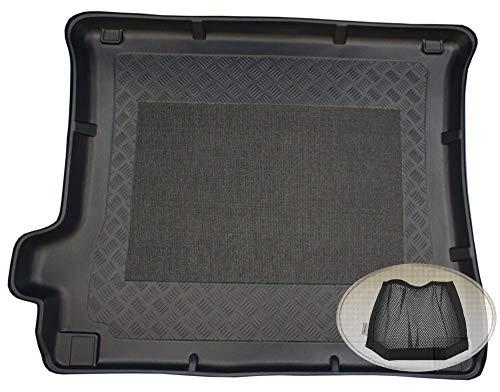 ZentimeX Z3018521 Antirutsch Kofferraumwanne fahrzeugspezifisch + Klett-Organizer (Laderaumwanne, Kofferraummatte)