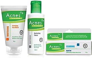 Acnes Introductory Treatment Kit (Clarifying Whitening, 50g, Toner, 120ml, Gel, 10g)
