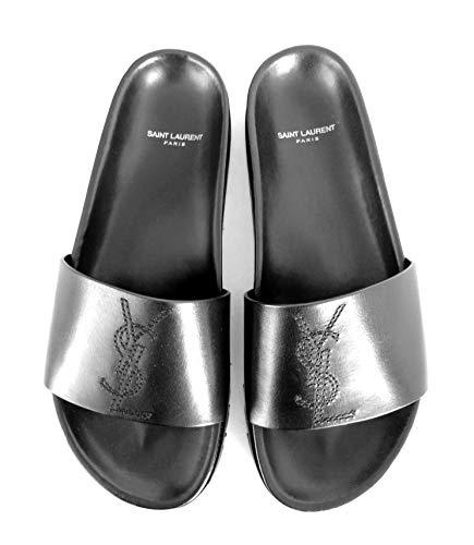 Yves Saint Laurent 510436BDA001000 Sandales en cuir Noir - Noir - Noir , 42.5 EU EU