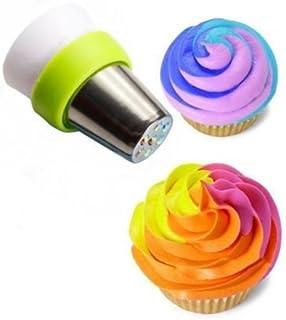 AuCatStore(TM) Icing Piping Nozzle Tricolor Converter Pastry Cream Cake Decorating Tools GW