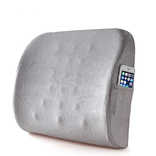 Dadao ortopedico cuscino posteriore, Memory foam supporto lombare per dolori lombari relief,seggiolino auto, reclinabile - Carbone di bambù,...