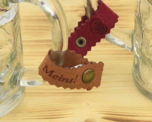 Henkelband 'Meins!' - Farbe wählbar - 1 Stück - Oktoberfest Maß Maßkrugband