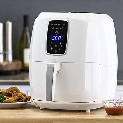ZZHMW Air Fryer, 5.5QT 1800W Elektrische Roestvrij Staal Air Fryers Oven Oilless Cooker, 7 Koken Voorinstellingen, Voorverwarmen & LCD Digitale Touchscreen, Nonstick Square Basket.