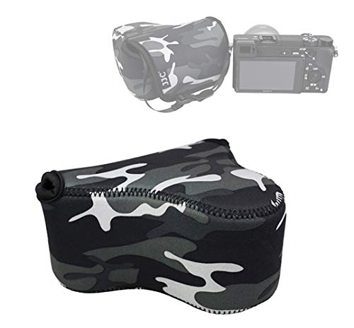 JJC Camouflage Ultra Light Neoprene Camera Case for Sony a6600 a6500...