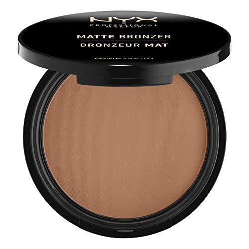 NYX Professional Makeup Matte Body Bronzer, Gepresstes Puder, Ohne Schimmer-Effekt, Vegane Formel, Dark Tan