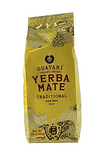 Guayaki Traditional Yerba Mate Tea Bags, 75 count, (Pack of 3)